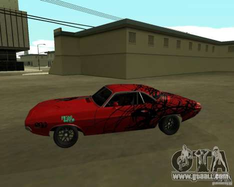 Dodge Challenger 1971 TeamGo for GTA San Andreas left view