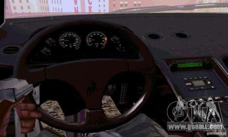 Lamborghini Diablo SV 1997 for GTA San Andreas inner view