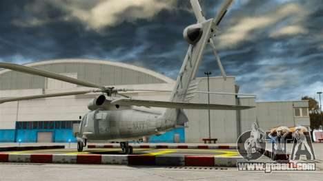 The helicopter the Sikorsky SH-60 Seahawk for GTA 4 back left view