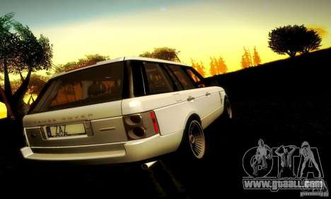 Range Rover Supercharged for GTA San Andreas inner view
