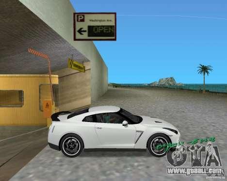 Nissan GT R35 Vspec for GTA Vice City back left view
