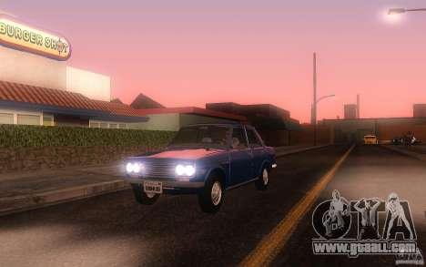 Datsun 510 4doors for GTA San Andreas left view