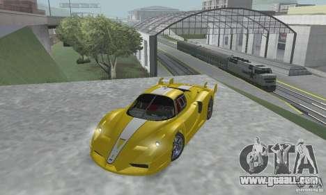 Ferrari FXX for GTA San Andreas inner view
