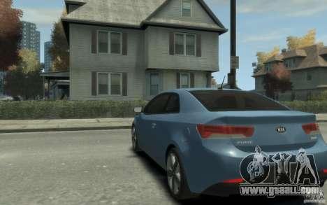 Kia Forte Koup SX for GTA 4 back left view