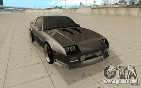 Chevrolet Camaro IROC-Z 1989 for GTA San Andreas back view