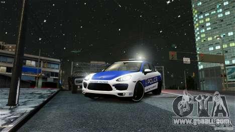 Porsche Cayenne Cop for GTA 4 back left view