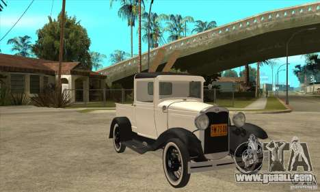 Ford Model A Pickup 1930 for GTA San Andreas back view