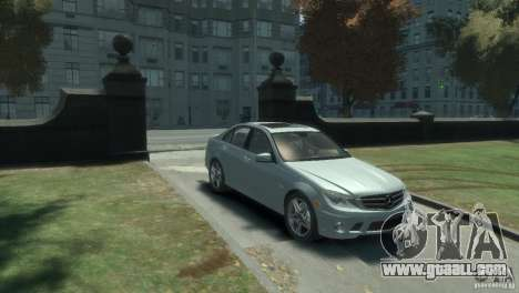 Mercedes Benz C63 AMG 2010 for GTA 4 left view