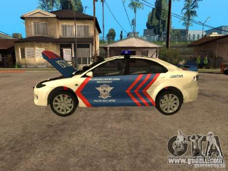 Mazda 6 Police Indonesia for GTA San Andreas back view