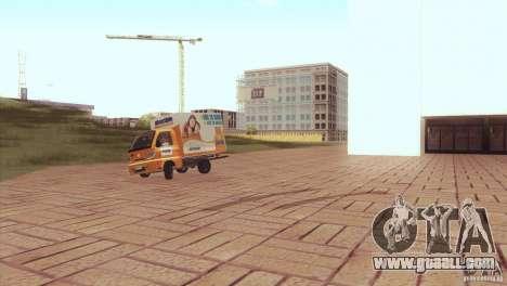 Hafei Camion de Gas for GTA San Andreas back left view