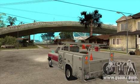 Chevrolet Silverado - utility for GTA San Andreas back left view