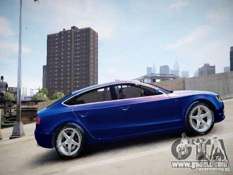 Audi A5 Sportback for GTA 4 back left view