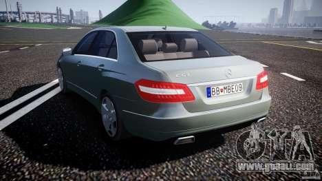 Mercedes-Benz E63 2010 AMG v.1.0 for GTA 4 back left view