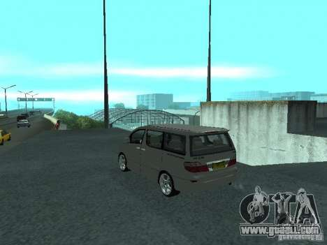 Toyota Alphard G Premium Taxi indonesia for GTA San Andreas left view