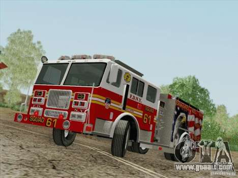 Seagrave Marauder. F.D.N.Y. Squad 61. for GTA San Andreas bottom view