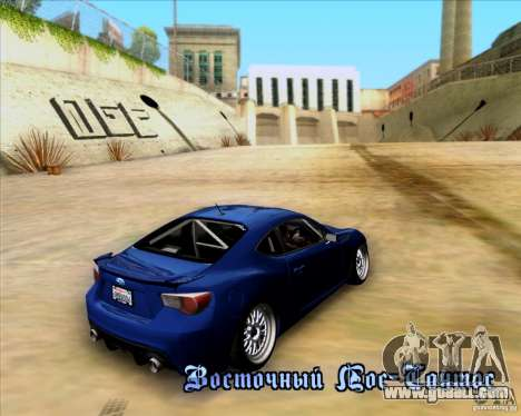Subaru BRZ Stance for GTA San Andreas inner view