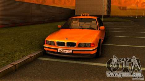 BMW 730i Taxi for GTA San Andreas right view