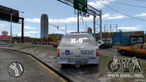 Chevrolet Suburban 2006 Police K9 UNIT for GTA 4 right view