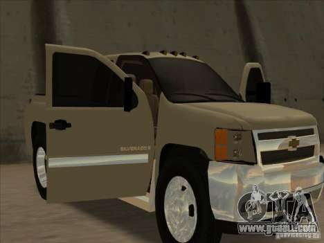 Chevrolet Silverado 3500 for GTA San Andreas back view