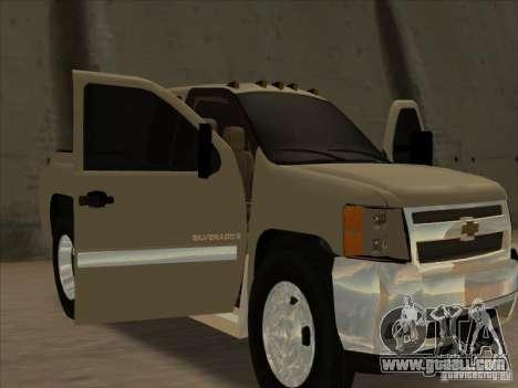 Chevrolet Silverado 3500 for GTA San Andreas back view
