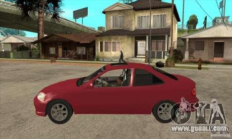 Honda Civic Tuning Tunable for GTA San Andreas back left view