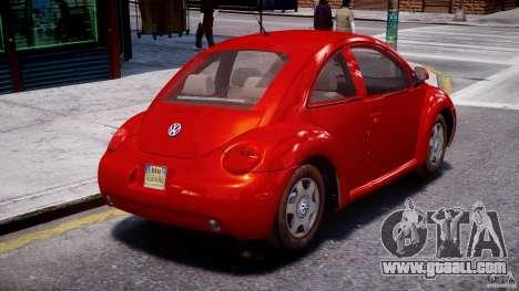 Volkswagen New Beetle 2003 for GTA 4 inner view