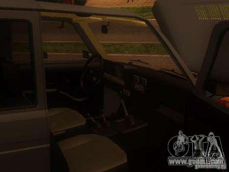 Vaz 2131 NIVA for GTA San Andreas back left view