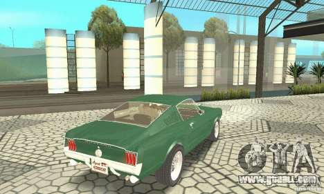 Ford Mustang Fastback 1967 for GTA San Andreas left view