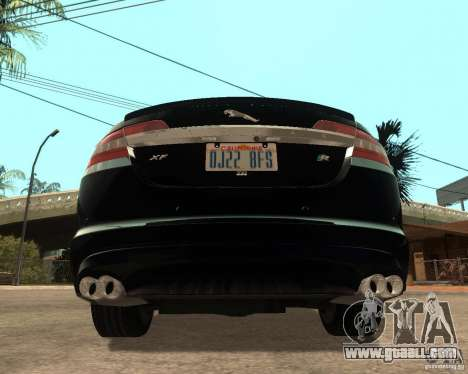Jaguar XFR 2009 for GTA San Andreas back left view