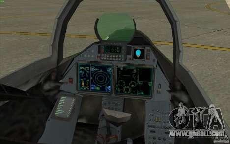 Su-35 BM v2.0 for GTA San Andreas back view