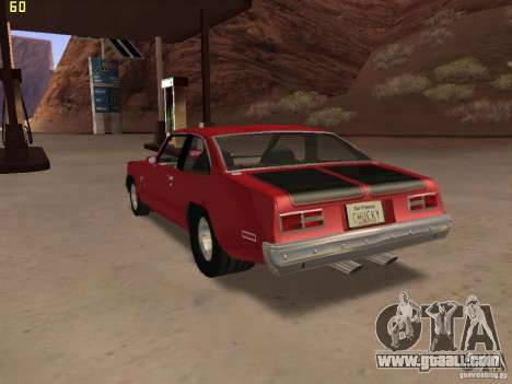 Chevrolet Nova Chucky for GTA San Andreas left view