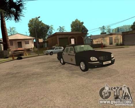 GAZ Volga 3110 Police weekdays for GTA San Andreas right view