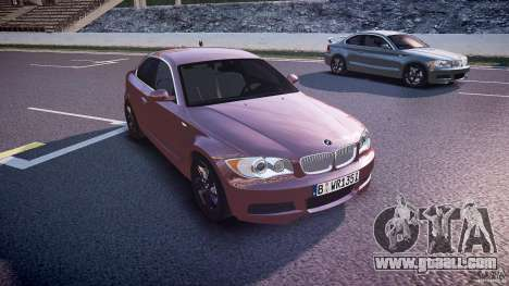 BMW 135i Coupe v1.0 2009 for GTA 4 back view