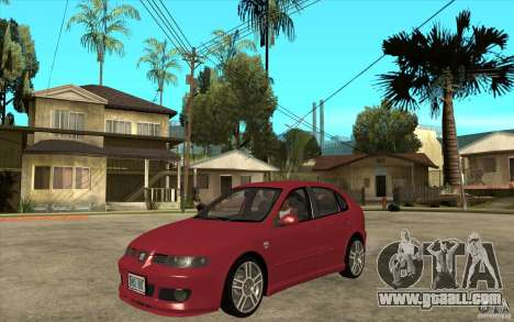 Seat Leon Cupra - Stock for GTA San Andreas