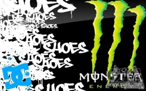 Boot screen Monster Energy for GTA San Andreas fifth screenshot