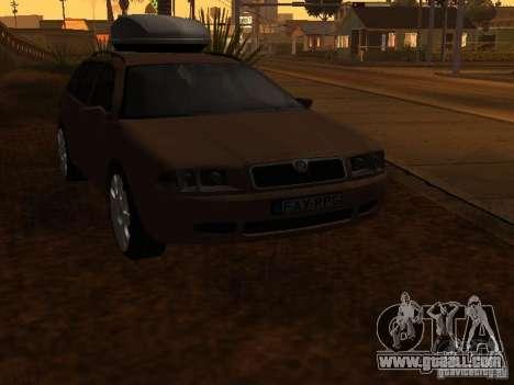 Skoda Octavia for GTA San Andreas upper view