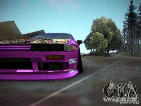 Nissan Silvia S13 Team Burst for GTA San Andreas back view
