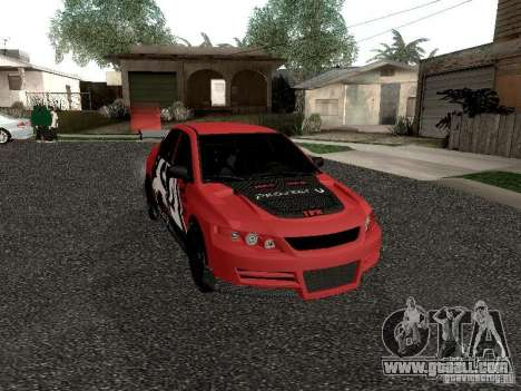 Mitsubishi Lancer Evo 8 for GTA San Andreas inner view