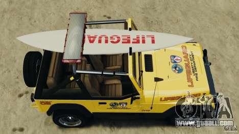 Jeep Wrangler 1988 Beach Patrol v1.1 [ELS] for GTA 4 right view