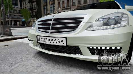 Mercedes-Benz S65 AMG LONG 2010 for GTA 4 right view