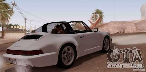 Porsche 911 Carrera 4 Targa (964) 1989 for GTA San Andreas right view
