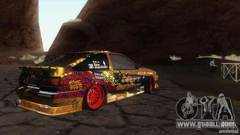 Toyota Corolla AE86 DS for GTA San Andreas left view