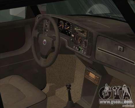 Saab 900 Turbo 1989 v.1.2 for GTA San Andreas interior
