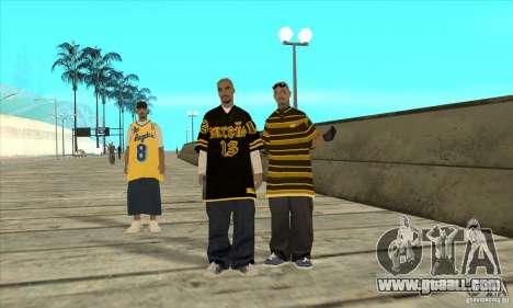 Replace all skins Los Santos Vagos Gang for GTA San Andreas