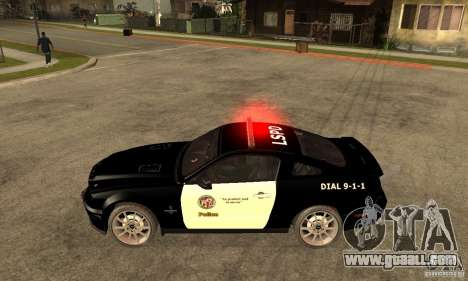 Shelby GT500KR Edition POLICE for GTA San Andreas left view