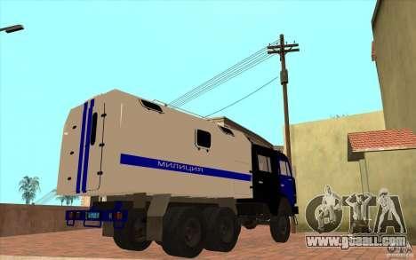 Kamaz Police for GTA San Andreas back view