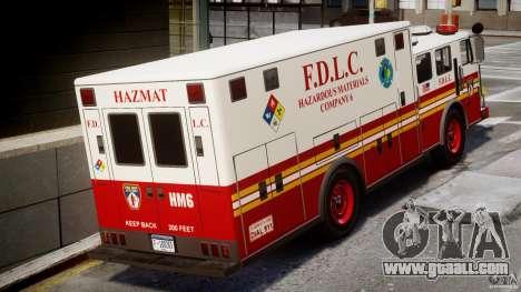 LCFD Hazmat Truck v1.3 for GTA 4 right view