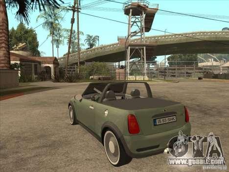 Mini Cooper S Cabrio for GTA San Andreas right view