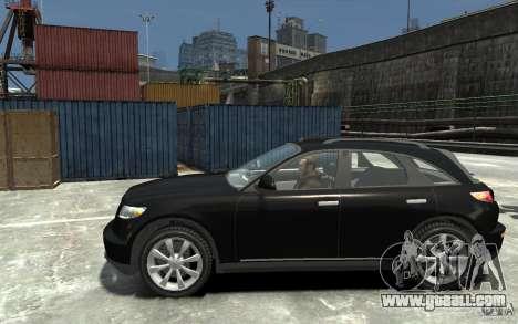 Infiniti FX45 for GTA 4 left view