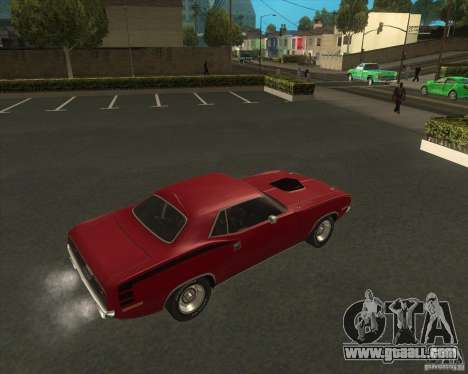 Plymouth Hemi Cuda 1970 440 of NFS PS for GTA San Andreas back left view